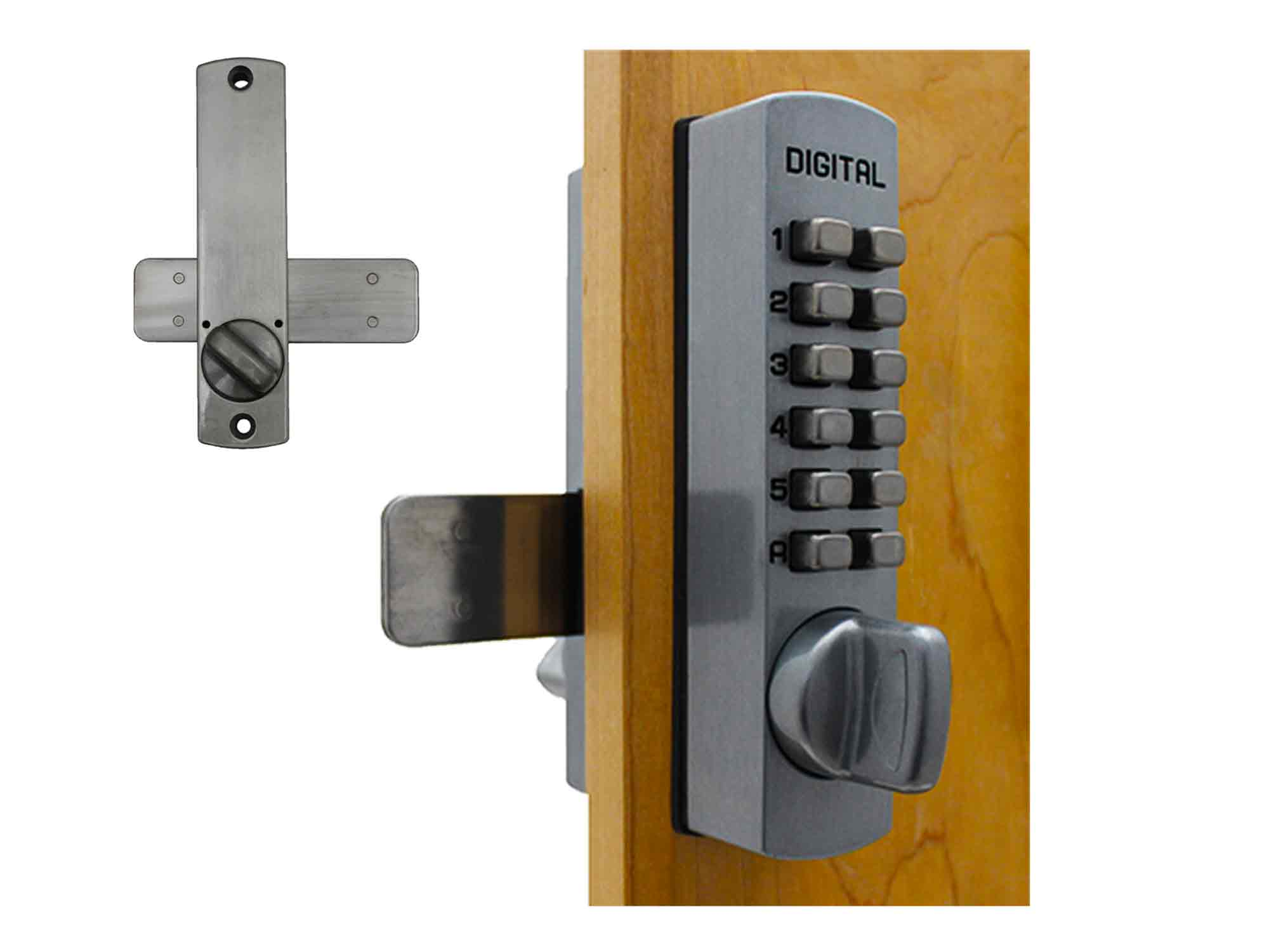 Lockey C120 Surface-Mount Cabinet Slide-Bar Deadbolt Keypad Lock