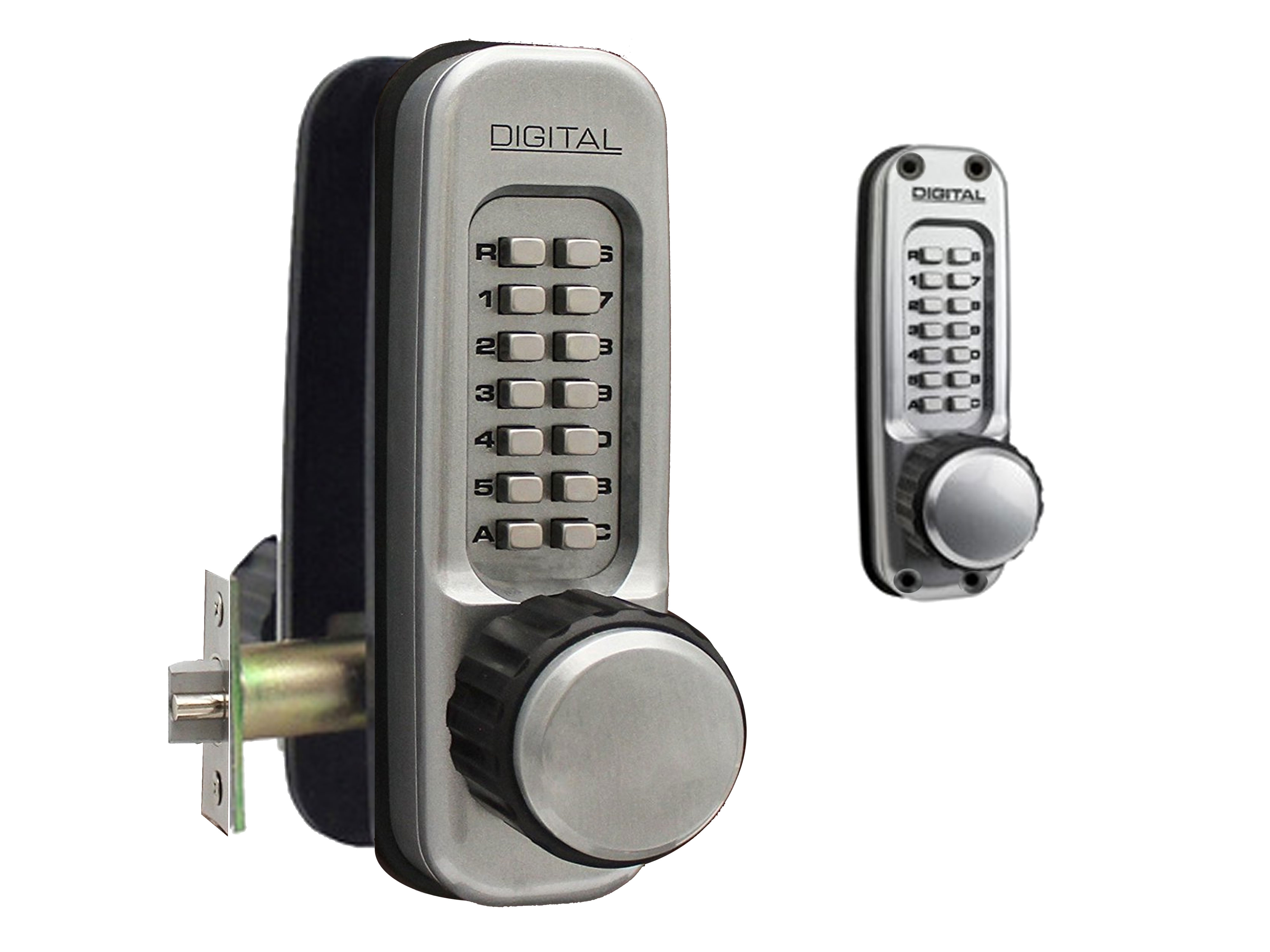 Lockey 1600DC Heavy-Duty Passage Knob-Handle Latchbolt Double-Keypad Lock
